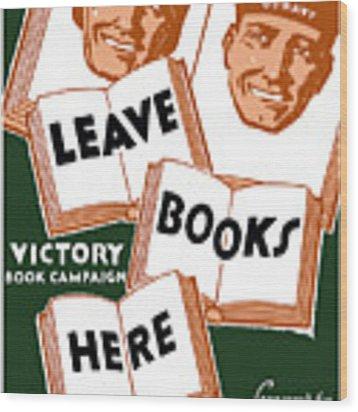 Victory Book Campaign - Wpa Wood Print
