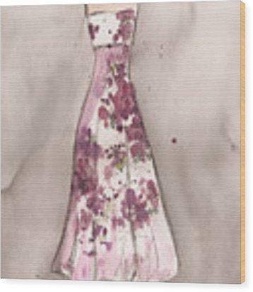Vintage Romance Dress Wood Print