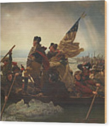 Washington Crossing The Delaware Wood Print