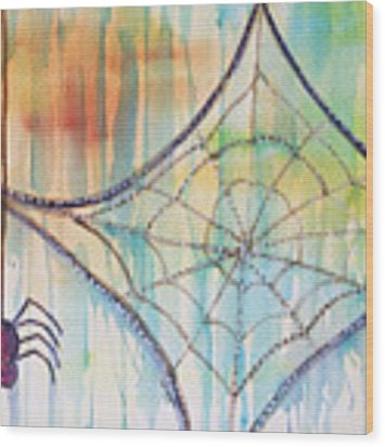Water Web Wood Print by Angelique Bowman