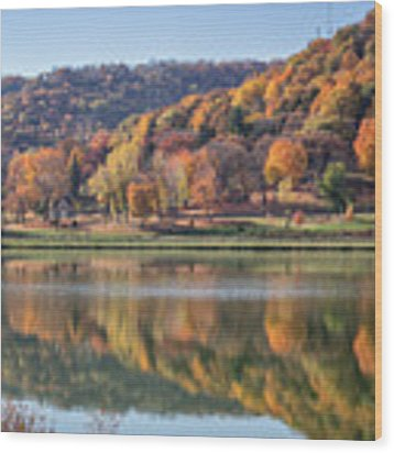 West Lake Winona With Woodlawn 2x3 Wood Print by Kari Yearous