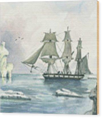 Whaler Wood Print by Juan Bosco