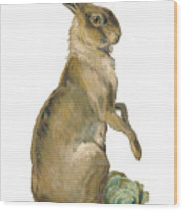 Wild Hare Wood Print by ReInVintaged