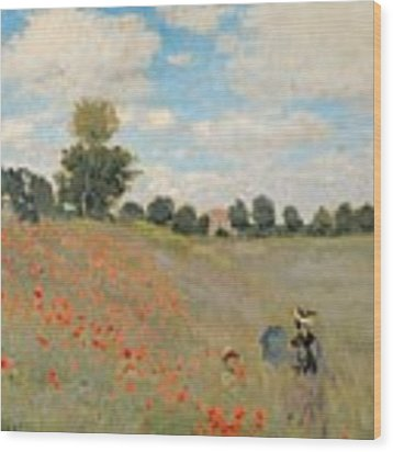 Wild Poppies Near Argenteuil Wood Print