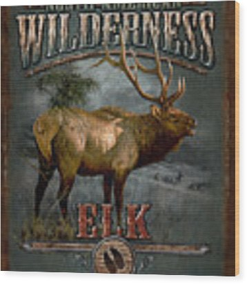 Wilderness Elk Wood Print