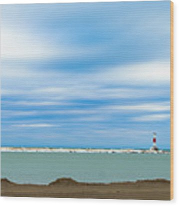 Wisconsin Winter Lakefront Wood Print by Steven Santamour