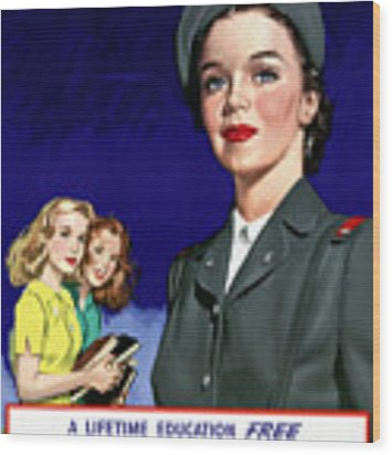 Ww2 Us Cadet Nurse Corps Wood Print