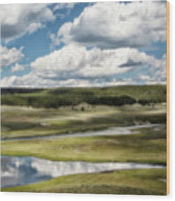 Yellowstone Hayden Valley National Park Wall Decor Wood Print by Gigi Ebert
