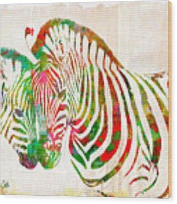 Zebra Lovin Wood Print