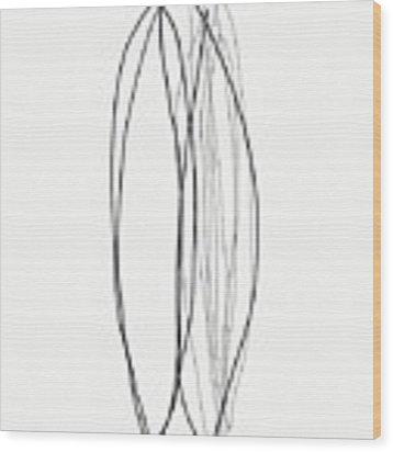 Zen Modern Abstract 4- Art By Linda Woods Wood Print by Linda Woods