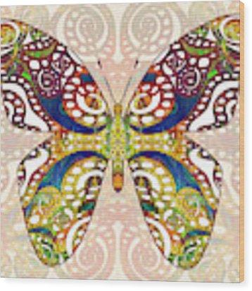 Butterfly Illustration - Transforming Rainbows  - Omaste Witkowski Wood Print by Omaste Witkowski
