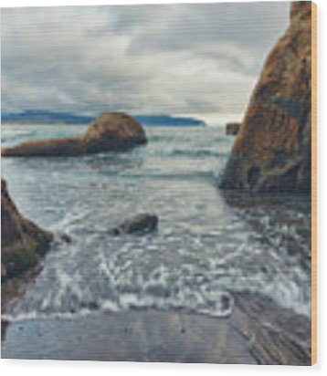 Oregon Coast Wood Print by Nicole Young