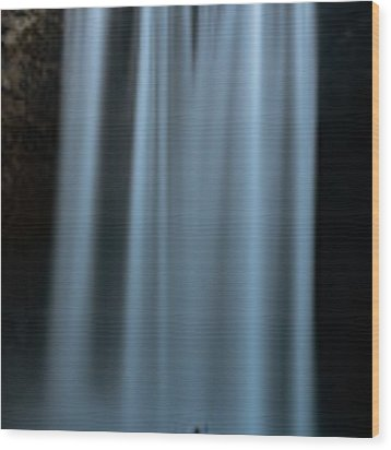 Amongst Giants Skogafoss Iceland Wood Print by Nathan Bush