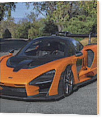 #mclaren #senna #print Wood Print by ItzKirb Photography