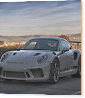 #porsche 911 #gt3rs #print Wood Print by ItzKirb Photography