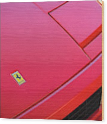 #ferrari #testarossa #print Wood Print by ItzKirb Photography