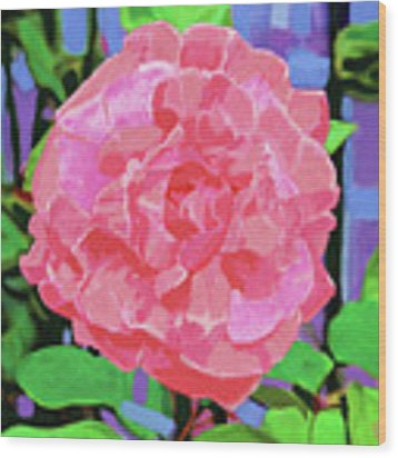 A Rose With Heart Wood Print by Deborah Boyd