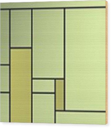 Backlight Of Geometric Compoitions Wood Print by Alberto RuiZ