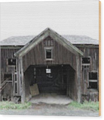 Barn 1886, Old Barn In Walton, Ny Wood Print by Gary Heller