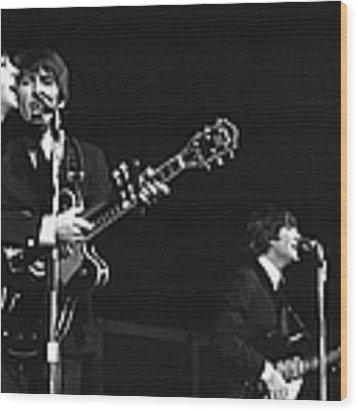 Beatles In America Wood Print by Express