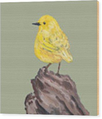 Bright Spot #2 Wood Print by Maria Langgle
