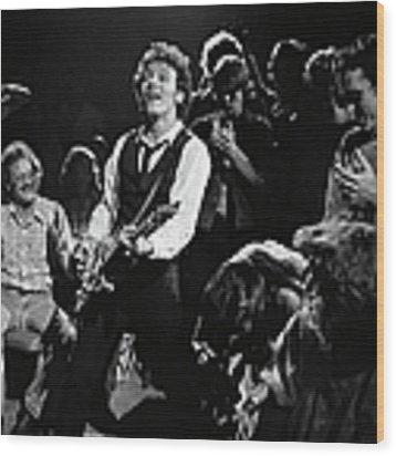 Bruce Springsteen In Concert Wood Print by George Rose