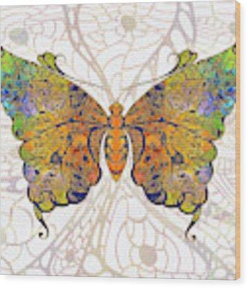 Butterfly Zen Meditation Abstract Digital Mixed Media Artwork By Omaste Witkowski Wood Print by Omaste Witkowski