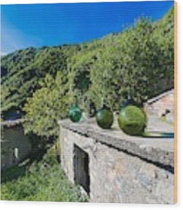 Canate Di Marsiglia Abandoned Place Lungo L'alta Via Dei Monti Liguri Wood Print by Enrico Pelos