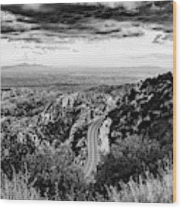 Catalina Highway Black And White, Tucson Wood Print by Chance Kafka