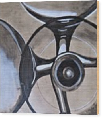 Champagne Glasses Wood Print by Joan Stratton