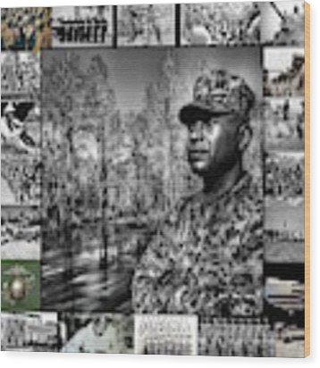 Colonel Trimble Collage Wood Print by Al Harden