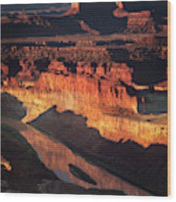 Colorado River Flow Wood Print by Scott Kemper