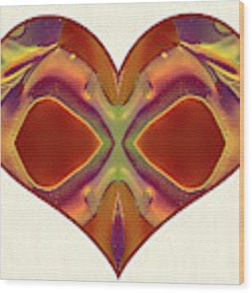 Colorful Heart - Naked Truth - Omaste Witkowski Wood Print by Omaste Witkowski