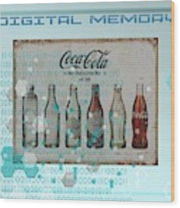 Cool Digital Memory Wood Print by Alberto RuiZ