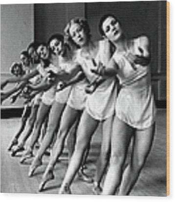 Dancers Ballerinas At George Balanchin Wood Print by Alfred Eisenstaedt