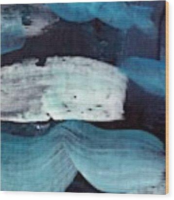 Deep Blue #3 Wood Print by Maria Langgle