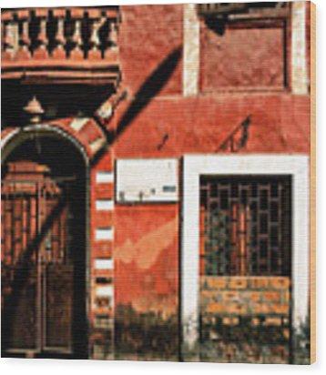 Doors Of India - Old Trader Door Wood Print by Miles Whittingham