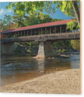 East Side Bridge Wood Print by James Billings