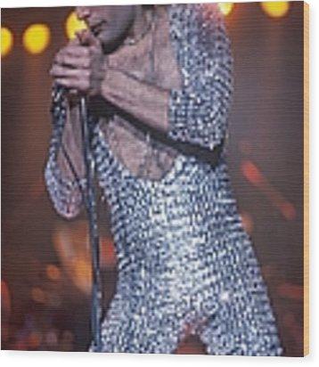 Freddie Mercury At Madison Square Garden Wood Print by Waring Abbott