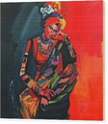 Goddess Of Colors Wood Print by Nizar MacNojia
