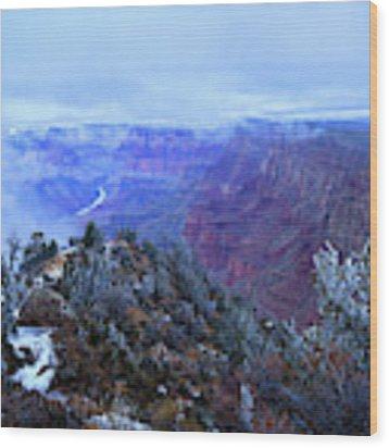 Grand Canyon Winter Scene Wood Print by Chance Kafka