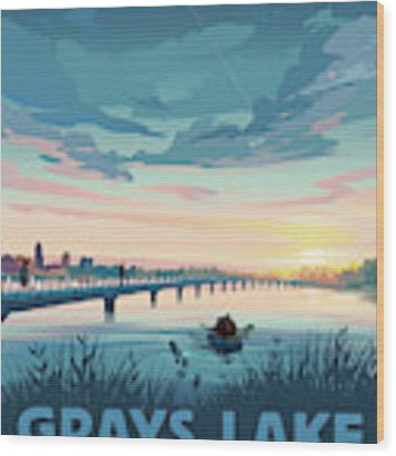 Grays Lake Wood Print by Clint Hansen