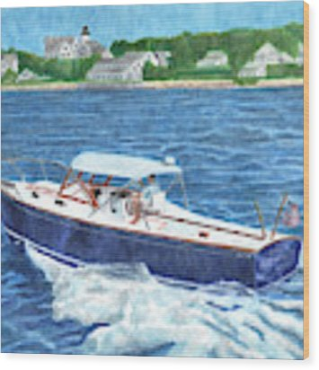 Great Ackpectations Nantucket Wood Print by Dominic White