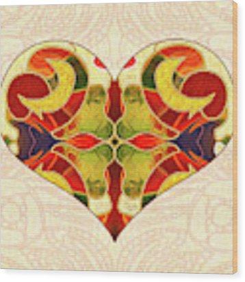 Heart Illustration - Creating Passionate Experience - Omaste Witkowski Wood Print by Omaste Witkowski