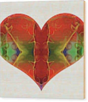 Heart Painting - Vibrant Dreams - Omaste Witkowski Wood Print by Omaste Witkowski