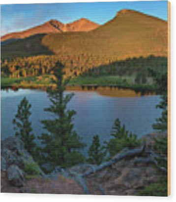Lily Lake Overlook Wood Print by Expressive Landscapes Fine Art Photography by Thom