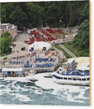 Maid Of The Mist Tour Boat At Niagara Falls Wood Print by Rose Santuci-Sofranko
