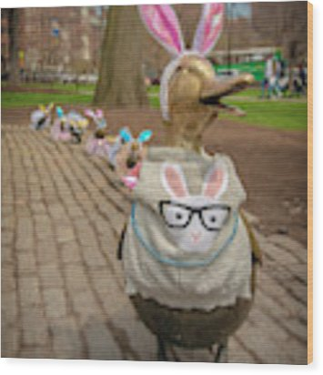 Make Way For Ducklings - Easter Parade Wood Print by Joann Vitali