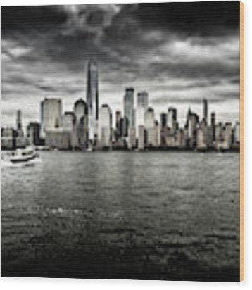 Manhattan Skyline Wood Print by Miles Whittingham
