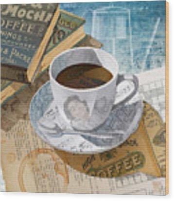Morning Coffee Wood Print by Clint Hansen